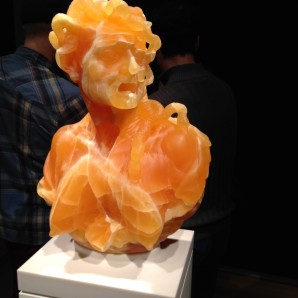 """Envy"" by Barry X Ball in golden honeycomb calcite"