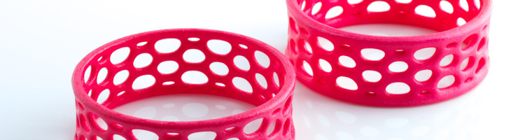 cell cycle bracelets in hand-dyed neon pink nylon