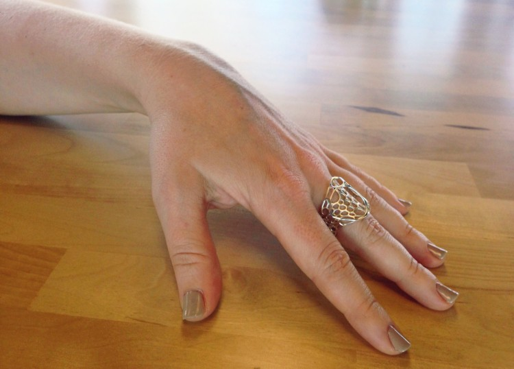 Catherine shows off her one-of-a-kind ring