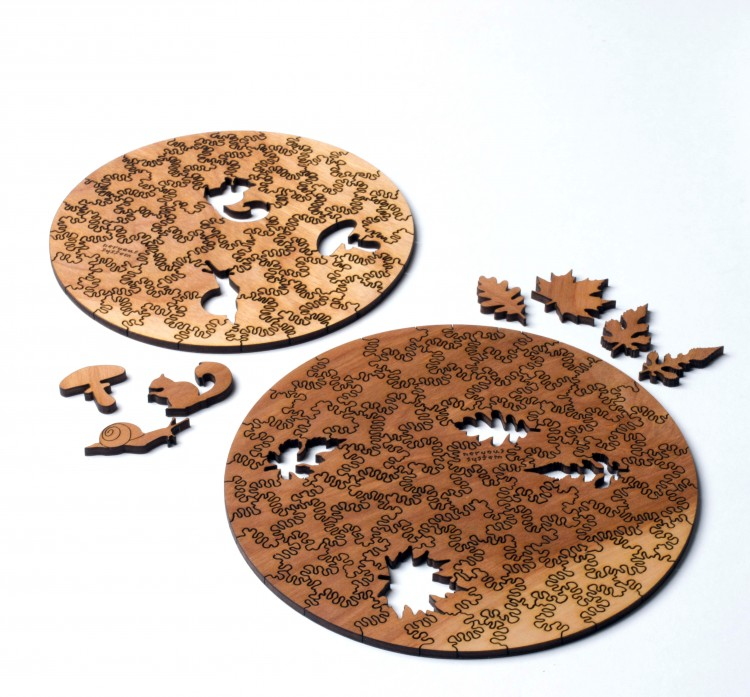 our puzzles are made from birch plywood. one side will feature your image and the other displays natural wood grain