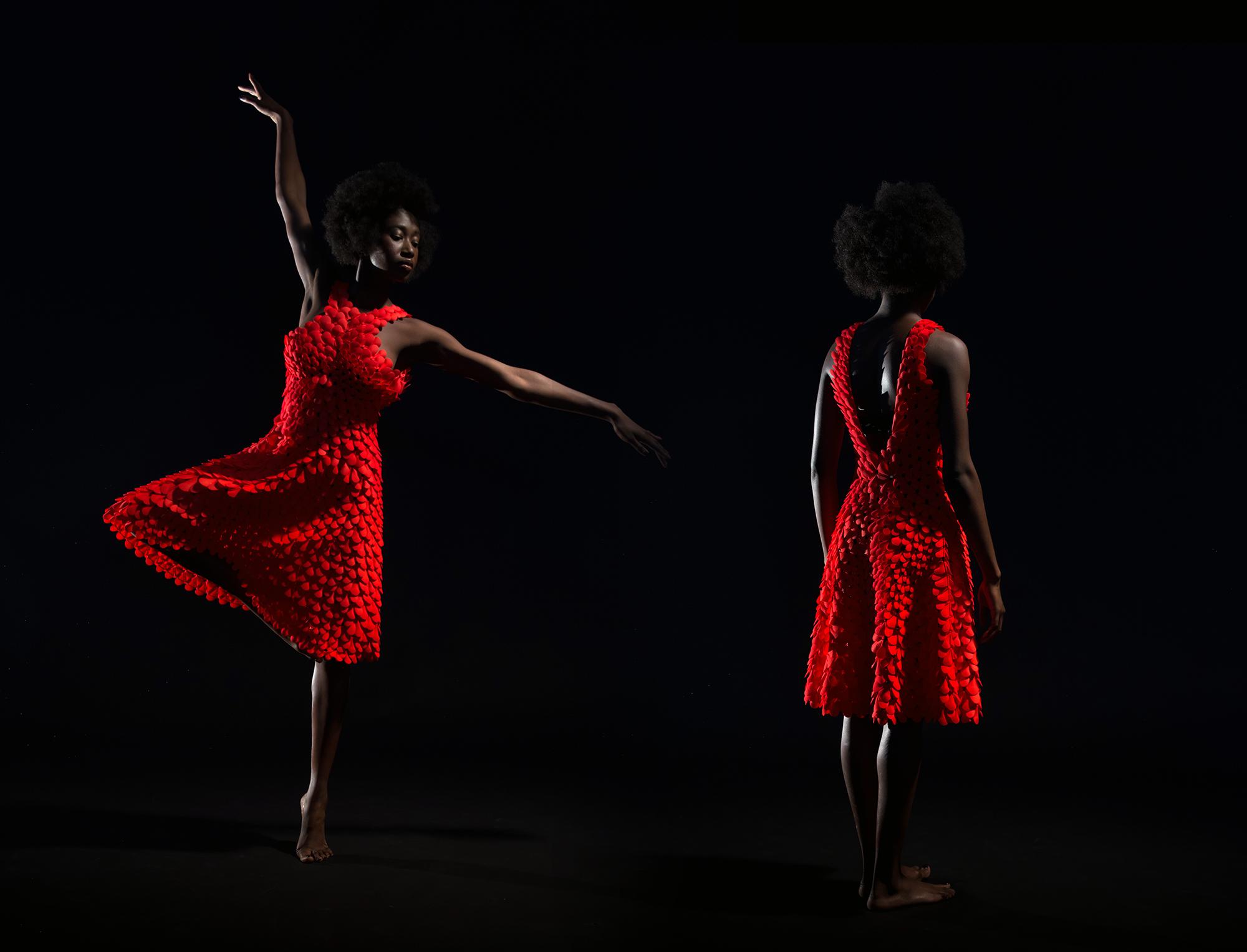 New Kinematic Petals Dress debuts at Powerhouse Museum