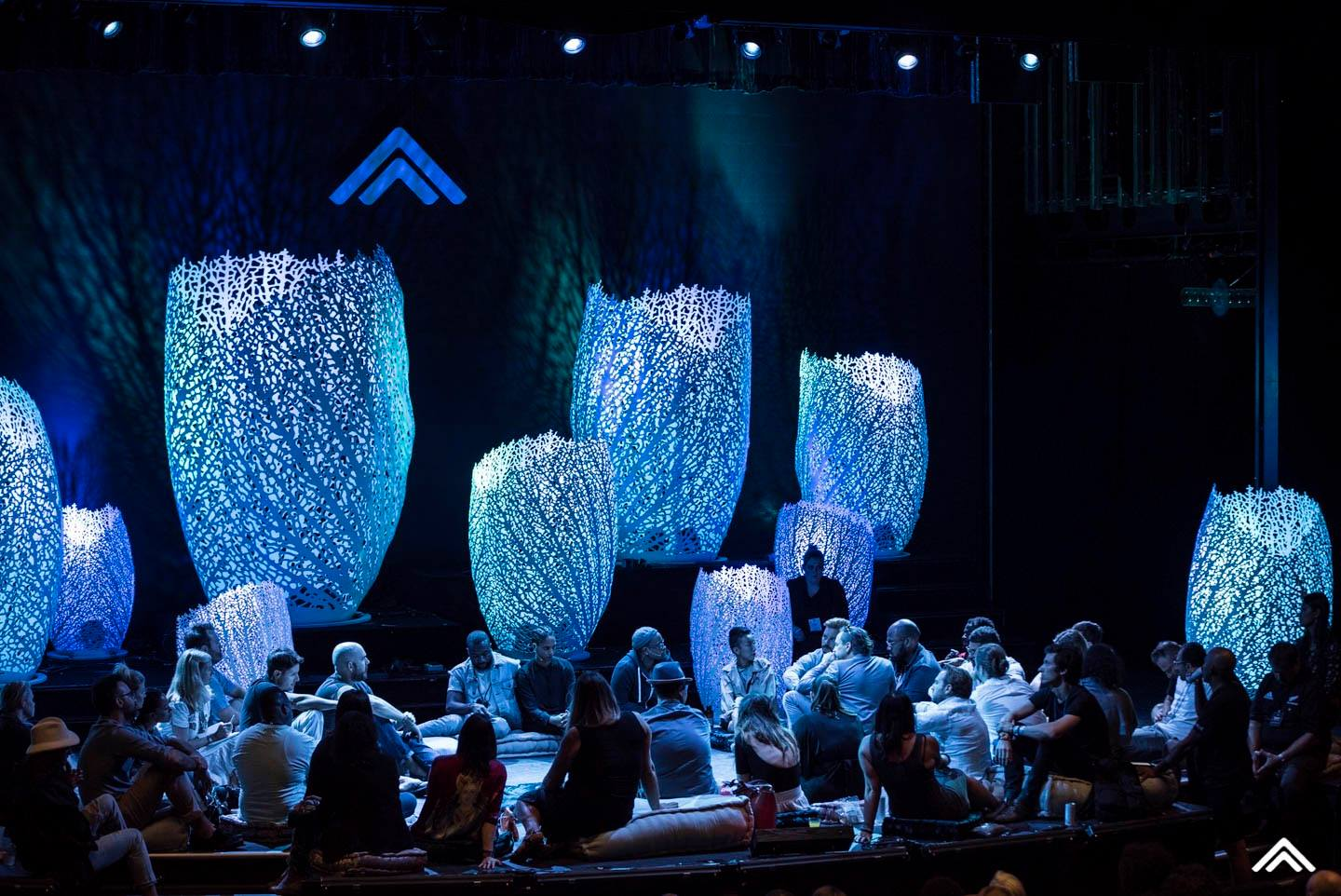 Coral-inspired installation for Summit At Sea
