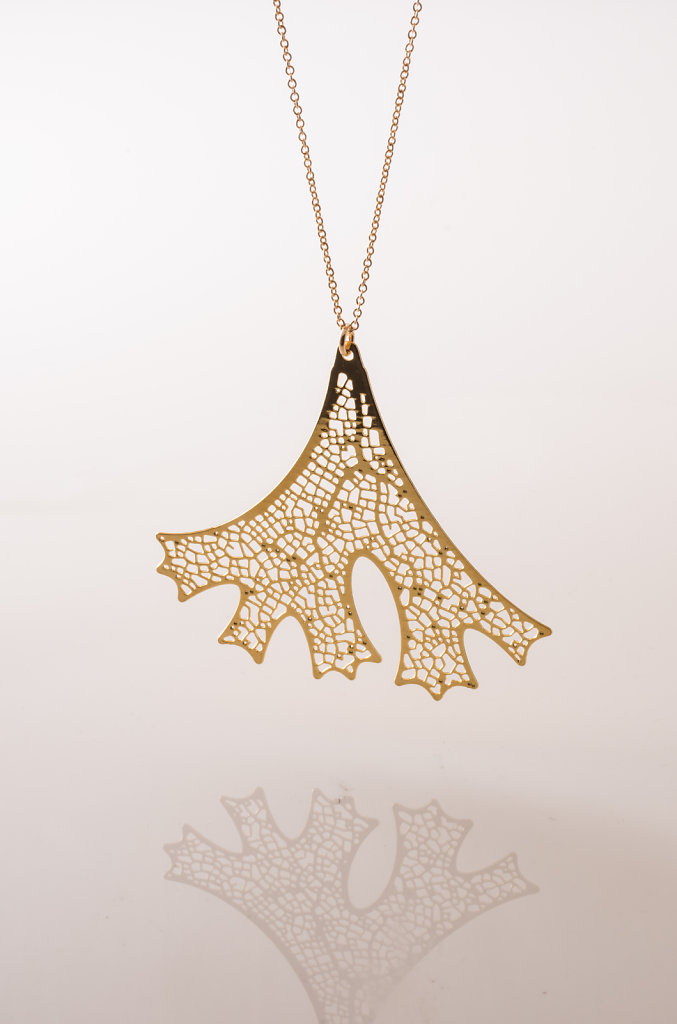 Folium Pendant (24kt gold plated stainless steel)