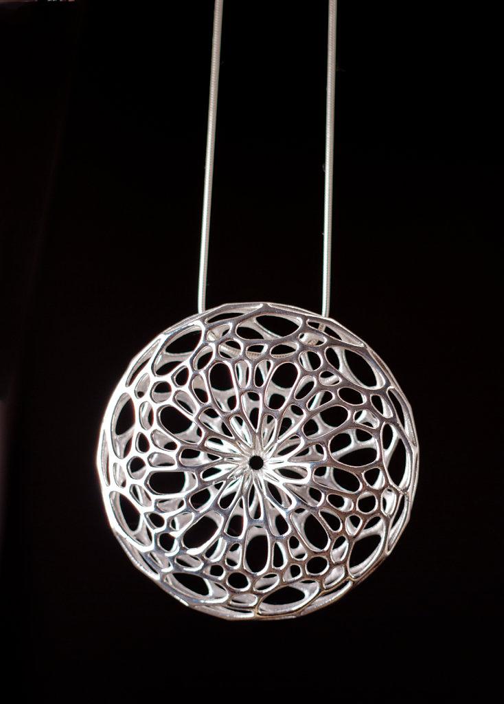 Silver Cellular Pendant