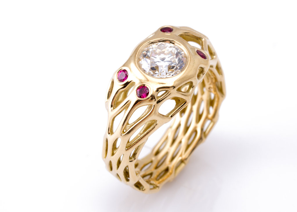 custom cell cycle engagement ring