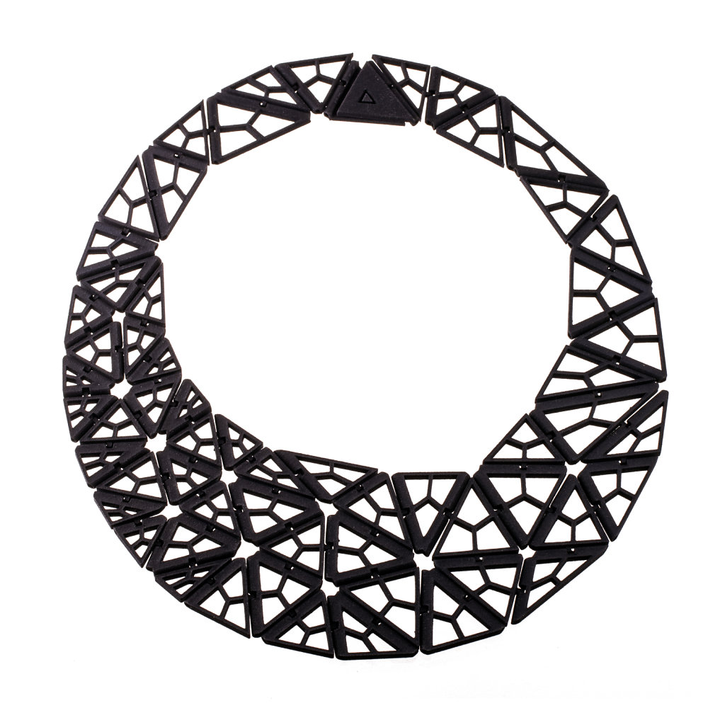 Polygonal 61 necklace