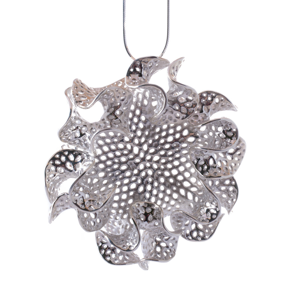 Silver Bryozoa Necklace