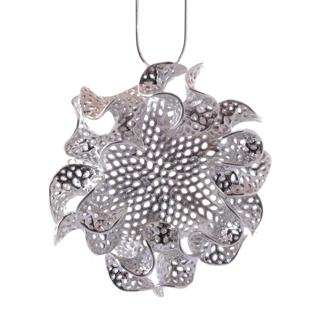 Silver Bryozoa Necklace