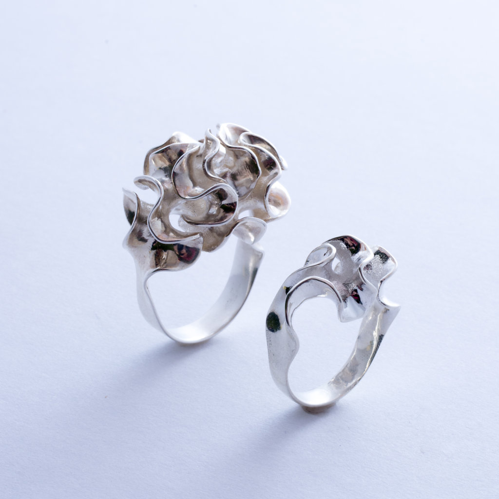 Silver Floraform Rings