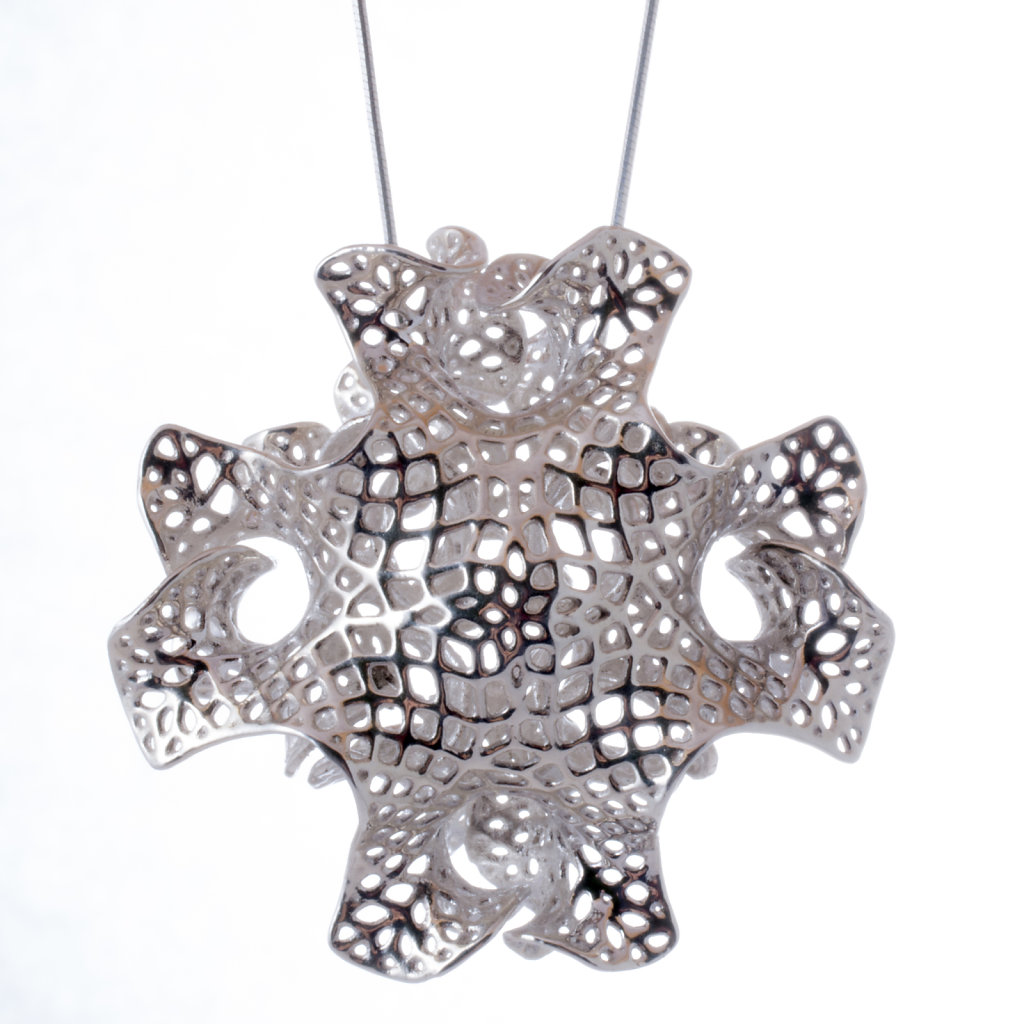 Silver Orchid Necklace - back