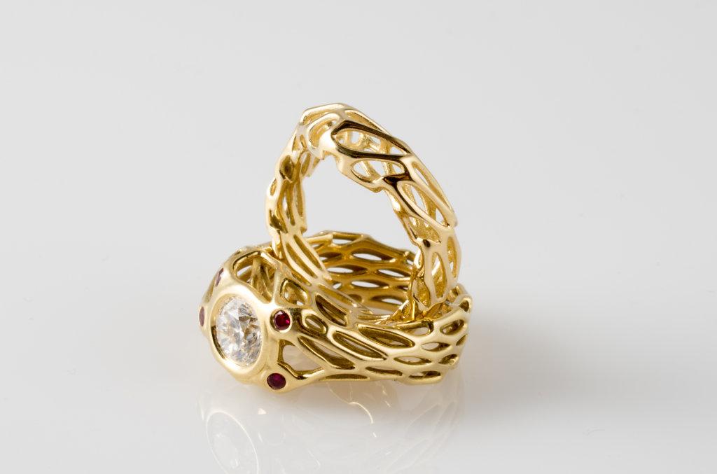 custom engagement ring with matching wedding band