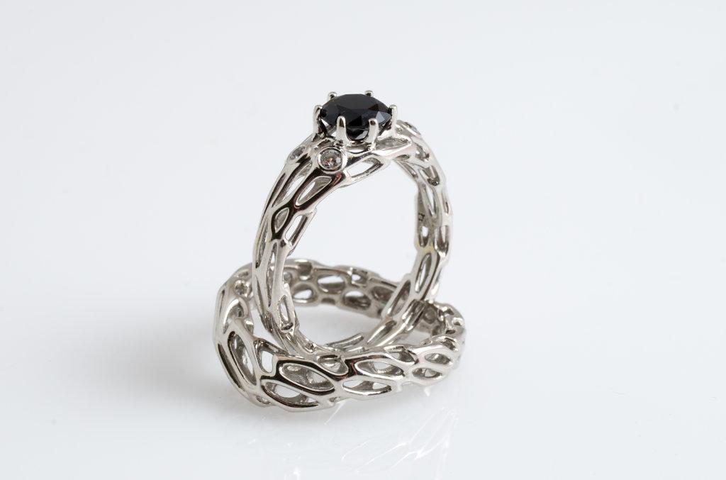 nested engagement ring set