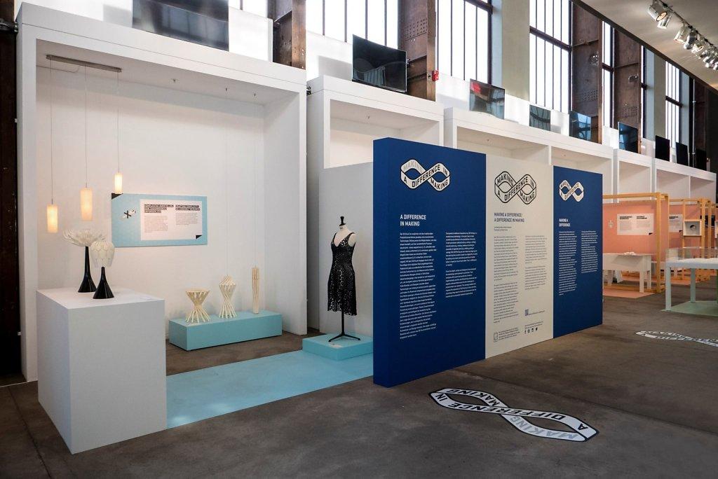 Kinematics Dress 3 on display at Red Dot Design Museum