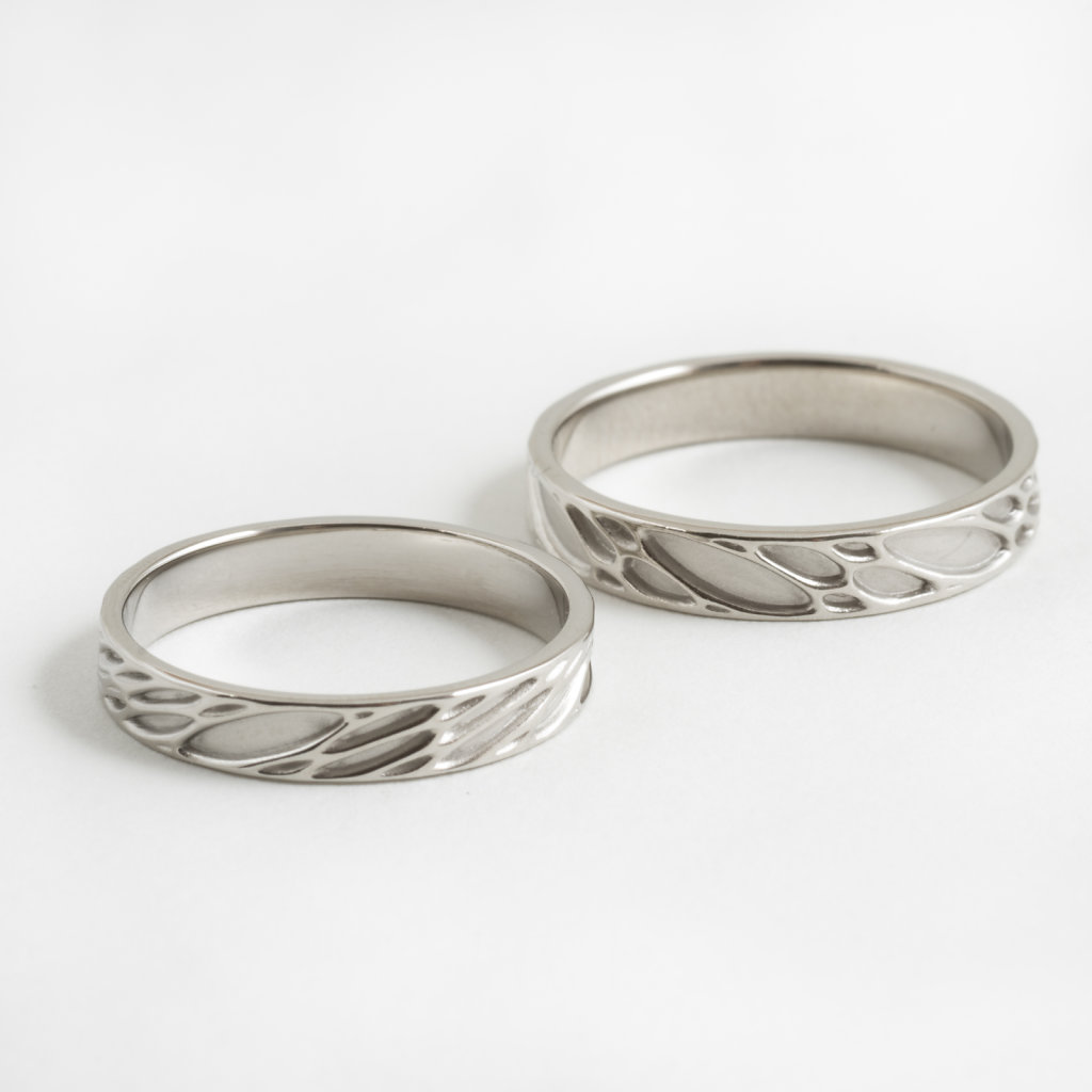 custom palladium wedding bands