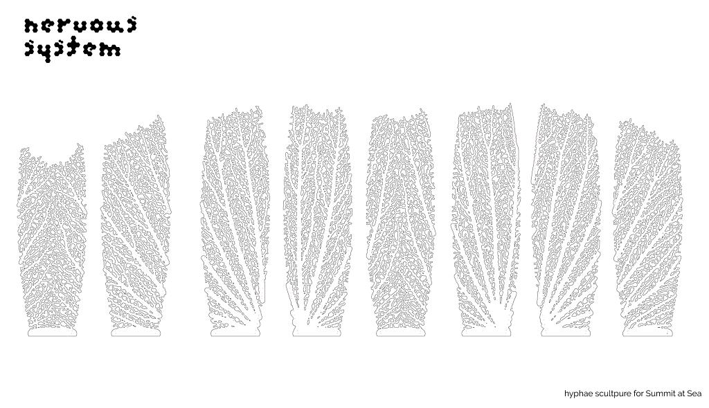 8 flat panels make up each Giant Hyphae Lamp